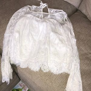 White lace Abercrombie & Fitch Blouse